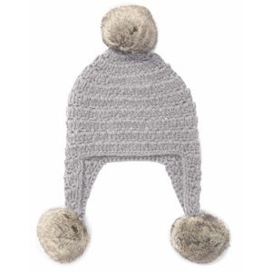 Michael Kors Knit Gray Trapper Hat with Faux Fur